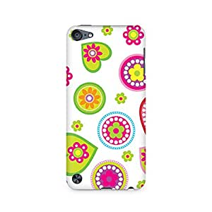 High Quality Printed Cover Case for Apple IPOD TOUCH 5 Model - Ethnic Hearts