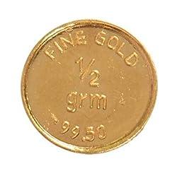 A Himanshu BIS Hallmarked 0.5 grams 24k (995) Yellow Gold Precious Coin