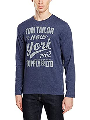 TOM TAILOR Camiseta Manga Larga (Azul)