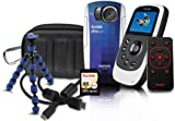 Kodak PlaySport (ZX5) Waterproof Pocket Video Camera Bundle (Includes Remote Control, Tripod, 4 GB Memory Card, HDMI Cable, and Camera Case) – Burton Bundle (2nd Generation)