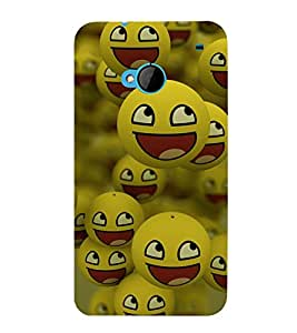 printtech Smiley Meme Happy Back Case Cover for HTC One M7::HTC M7