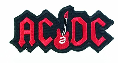 Iron or Swe On Red AC/DC Guitar Logo Patch - Best Quality