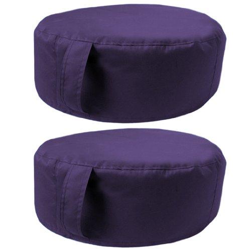 Sitzsack-Pouff / Bohnensack-Kissen, rund, wasserabweisend, Innen- und Außenbereich, Lila, 2 Stück Sitzsack-Pouff / Bohnensack-Kissen, rund, wasserabweisend, Innen- und Außenbereich, Lila, 2 Stück