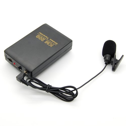Handsfree Fm Wireless Tie & Head Microphone Mic Transmitter Receiver System Kit