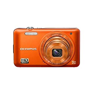 Olympus VG-160 14MP Digital Camera with 5x Optical Zoom (Orange) (Old Model)