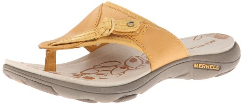 Merrell Women's Grace Lavish Flip Sandal,Spruce Yellow,9 M US
