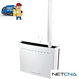 High Power AC1750 Plug-In Wi-Fi Range Extender and Free 6 Feet Netcna HDMI Cable - By NETCNA