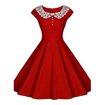 Miusol Women's Classy Vintage Audrey Hepburn Style 1940's Rockabilly Evening Dress
