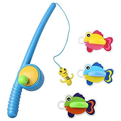 YIXIN Bath Fishing Toy with Two Different Design Fishing Rod Great Challenge for Kids 3 Age+