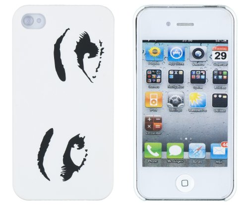 Sexy Eyes Embossed Hard Case for Apple iPhone 4, 4S (AT&T, Verizon, Sprint) – Includes DandyCase Keychain Screen Cleaner [Retail Packaging by DandyCase]