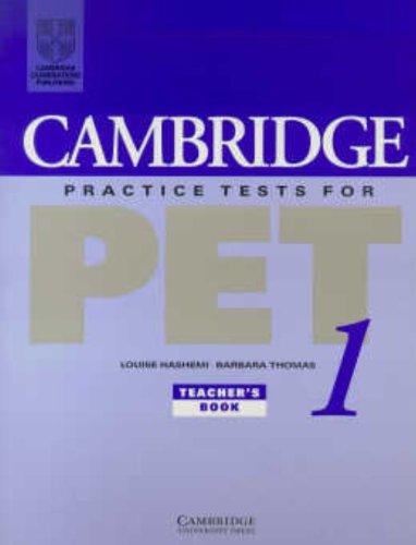 Cambridge Practice Tests for PET 1 Teacher's book