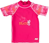 Baby BanZ Short Sleeve Rashy Top, Pink Grafitti, 5-6 Years
