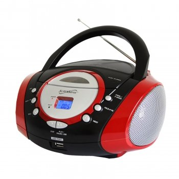 Supersonic Sc508Red Portable Audio System