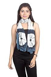 Dream Fashion Denim Tie Dyed Scarf For Women's