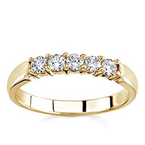Diamond Band 18k Yellow Gold Five-Stone