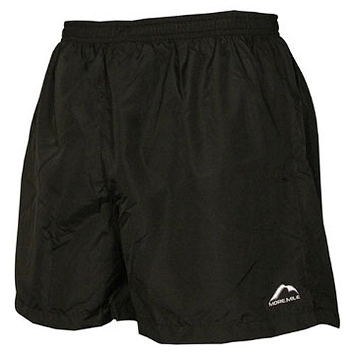 "More Mile Mens 5"" Baggy Running Shorts - Black (MM-1274)"