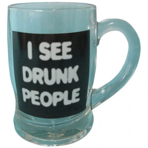 Gift House International Beer Glass, I See Drunk People