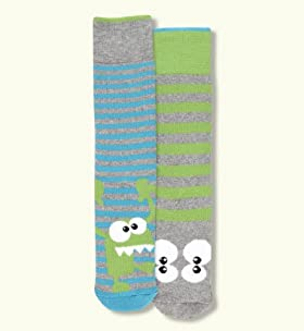 2 Pairs Of Cotton Rich Head Welly Stripe Socks