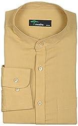 SWATHE Men's Formal Shirt (Core-3(CN)-3-44, Yellow)