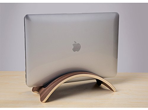 Walle Shop® Handcrafted Wooden Desk holder Stand For for Apple MacBook Pro