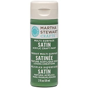 Martha Stewart 32002 2-Ounce Acrylic Satin Paint, Pesto