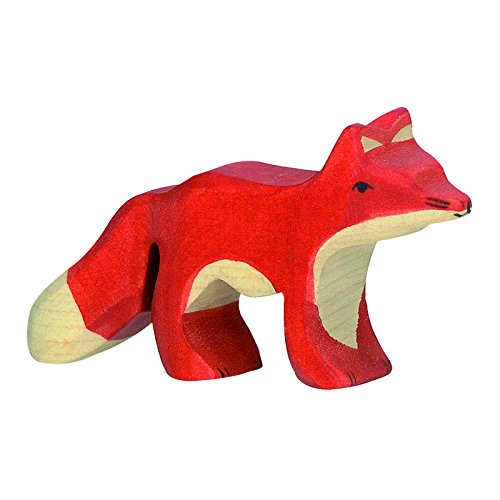 Woodland Animal Wooden Play Figurine, Fox - 1