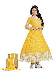 Ustaad Women Georgette Heavy Dress Material