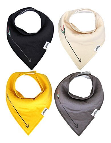 Matimati Baby Bandana Drool Bibs With Snaps For Boys & Girls - Super Absorbent, Soft, & Modern Pack of 4 (Solid Arrow Unisex)