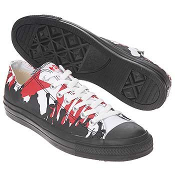 MEN'S Converse Chuck Taylor All Star Red White Black Concert Ox Men's SIZE 7 US/WOMEN'S SIZE 9 US