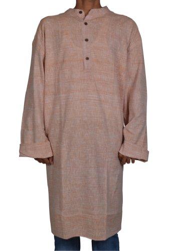 Casual Indian Khadi Mens Long Kurta Fabric For Winter & Summers Size 7XL