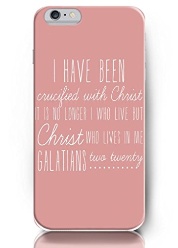 I Have Been With Crucified Christ It Is No Longer I Who Live But Christ Who Lives In Me Galatians True Twenty - Iphone 6 - Hard Snap On Plastic Case - Inspirational And Motivational Life Quotes