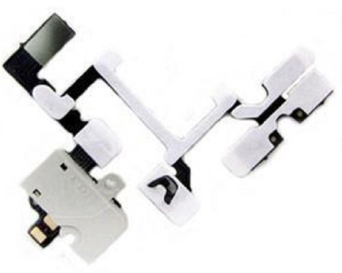 Generic Headphone Audio Jack Flex Ribbon Cable Replacement For Iphone 4G White