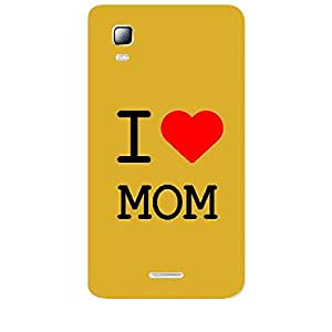 Skin4gadgets I love Mom Colour - White Phone Skin for CANVAS DOODLE3 (A102 )