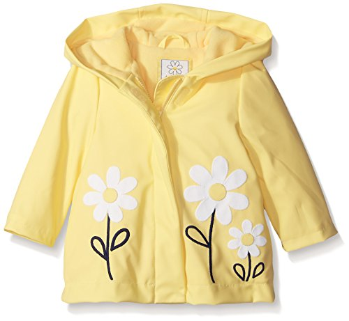 Gymboree Toddler Girls Yellow Raincoat with Daisy Applique, 2T/3T