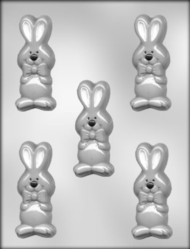 CK Products 3-1/2-Inch Rabbit with Bow Tie Chocolate Mold