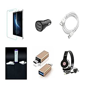 High Quality Combo of LeTV 1s Temper Glass + Car Charger 2 USB + Type C Data ...