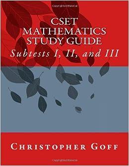Cset subtest study guide
