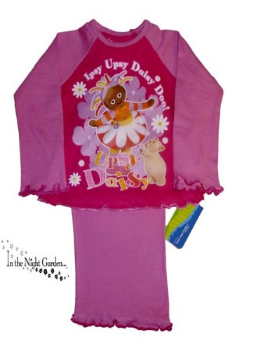 ThePyjamaFactory Girls Upsy Daisy Doo Long Pink Pyjamas