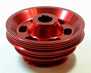 HONDA 92-95 Civic Del Sol 1.5L 1.6L SOHC Crank Pulley - RED