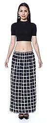 Black n White Check Skirt