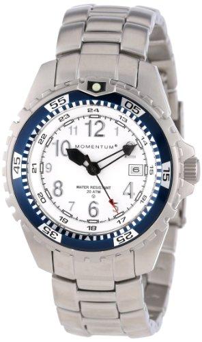 Momentum 1M-DV11WU0 - Reloj analógico de cuarzo para mujer con correa de acero inoxidable, color plateado