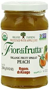 Rigoni Di Asiago Fiordifrutta Organic Fruit Spread, Peach, 8.82 Ounce, (Pack of 6)