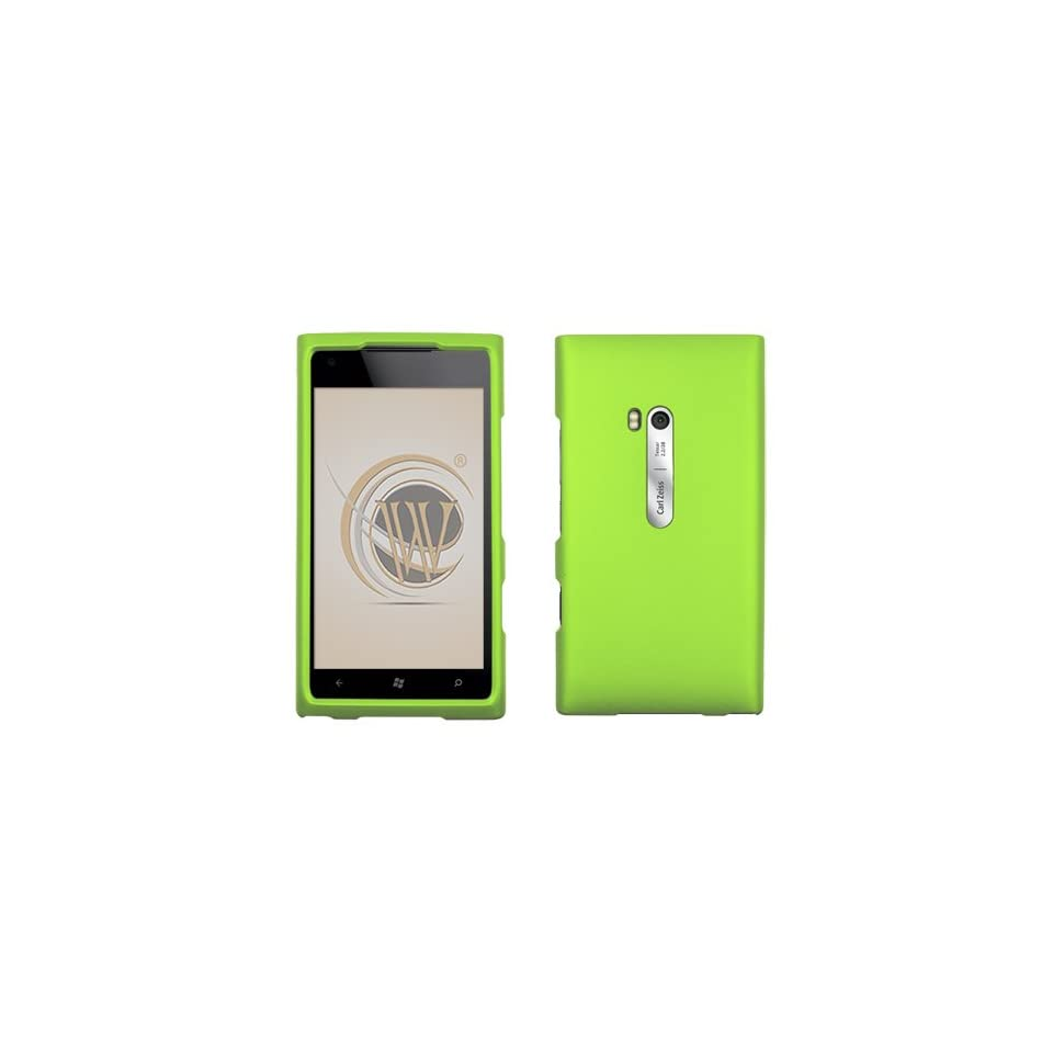 Neon Green Rubberized Hard Case Cover for AT&T Nokia Lumia 900