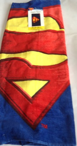 Licensed Superman Shield Logo Beach Towel