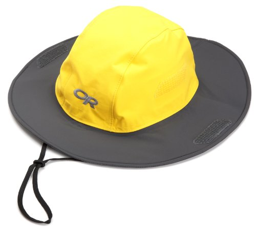 Outdoor Research Seattle Sombrero Rain Hat, 498-Yellow/Dark Grey, Medium