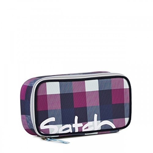 Satch by Ergobag Schlamperbox Berry Carry - Lila 966 karo lila blau thumbnail