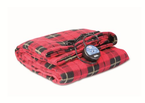 Maxsa Innovations 20014 Comfy Cruise 12V Heated Travel Blanket, Plaid