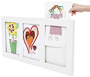 Articulate Gallery A4 MDF Triple Picture Frame, White