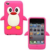 Sleek Gadgets - Pink White Cute Penguin Design Case Cover Shell for Apple iPod Touch 4th Generation, 4G, 8gb, 16gb, 32gb with Facetime Camera