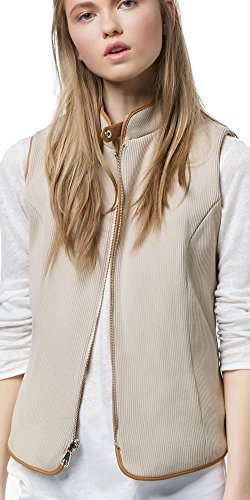 цена Massimo Dutti (Zara Group) Women´s Beige Reversible Quilted Waistcoat 6707/683 онлайн в 2017 году